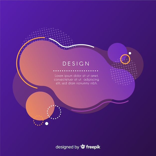 Abstract frame with fluid style Free Vector