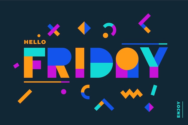 Abstract friday word design background Premium Vector
