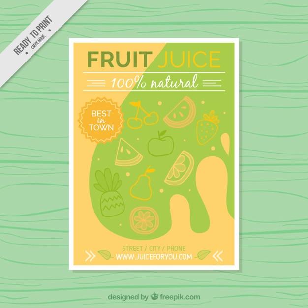 Estratto succhi di frutta volantino Vettore gratuito