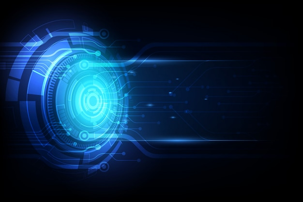Abstract future technology, electric telecom background Premium Vector