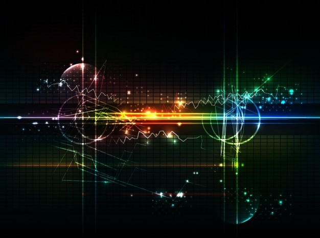 Abstract futuristic background vector art Free Vector