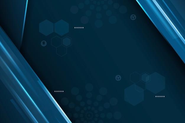 六角形と円の抽象的な未来的な背景 無料ベクター