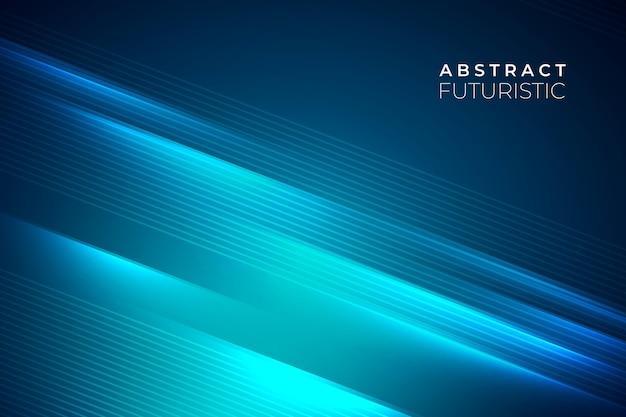 水色の線で抽象的な未来的な背景 Premiumベクター