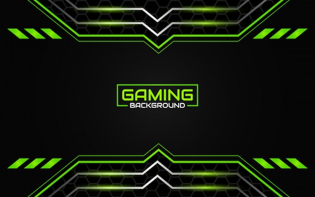 Premium Vector Abstract Futuristic Black And Green Gaming Background