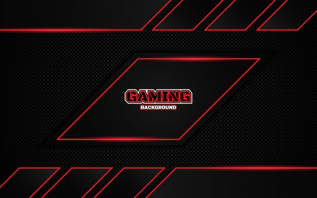 Premium Vector Abstract Futuristic Black And Red Gaming Background