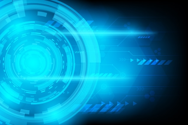 Abstract futuristic circuit technology background Premium Vector