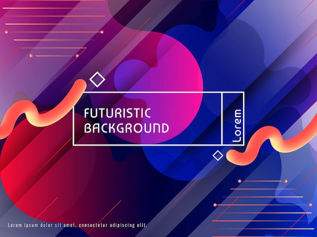Abstract futuristic colorful modern background design Free Vector