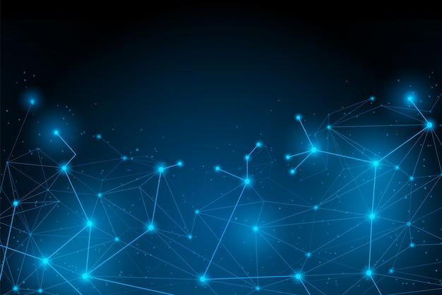 Abstract futuristic connection Premium Vector