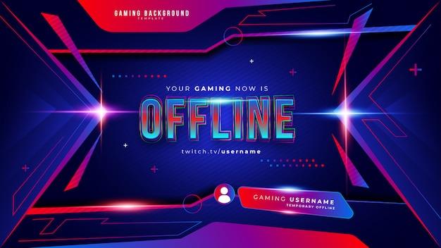 오프라인 twitch 스트림에 대한 추상 미래 게임 배경 무료 벡터