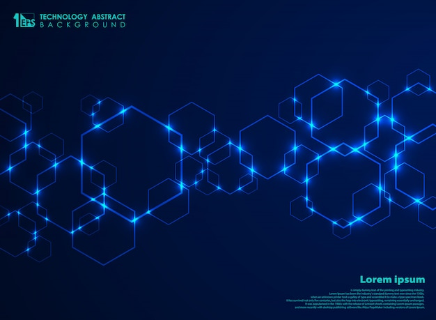 Abstract futuristic hexagon shape pattern Vector | Premium ...