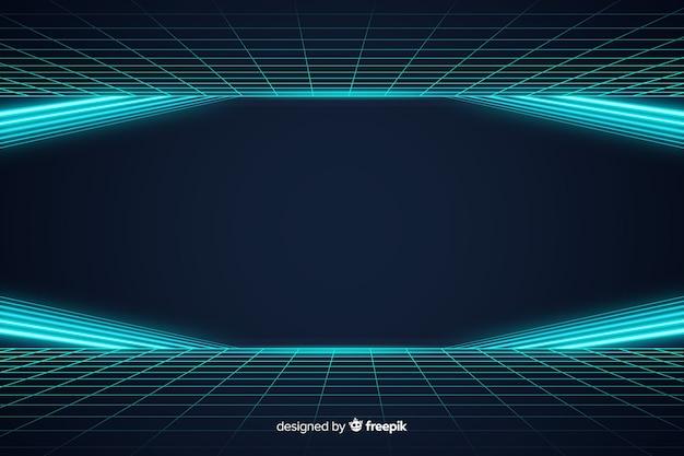 Abstract futuristic horizon light background Free Vector