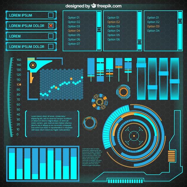 Abstract futuristic infographic Vector | Premium Download