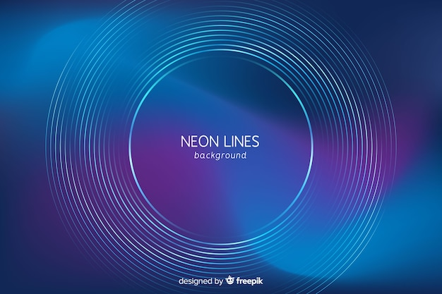 Abstract Futuristic Neon Background Vector Free Download
