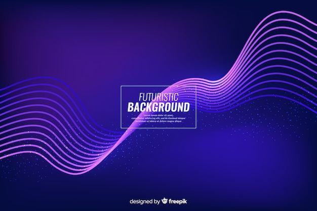 Abstract futuristic neon background Free Vector