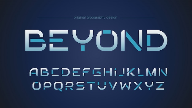 Abstract futuristic sports typography design Premium Vector