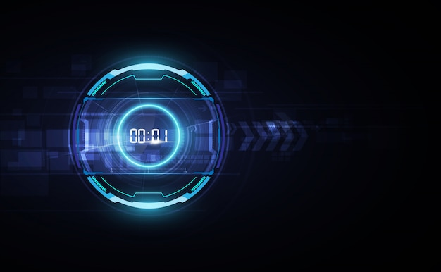 Abstract futuristic technology background Premium Vector
