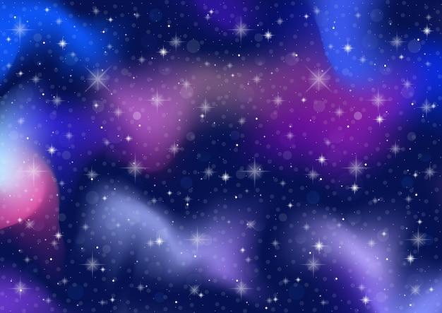 추상은 하. 우주 공간과 별 효과 배경. 프리미엄 벡터