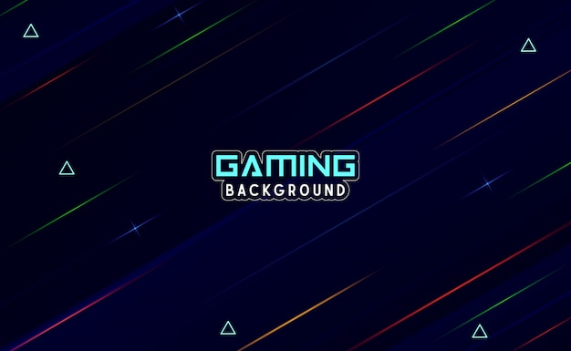 Abstract gaming background with light ray object Premium Vector