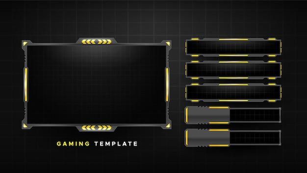 Pacchetto di pannelli di flusso di gioco astratto Vettore gratuito