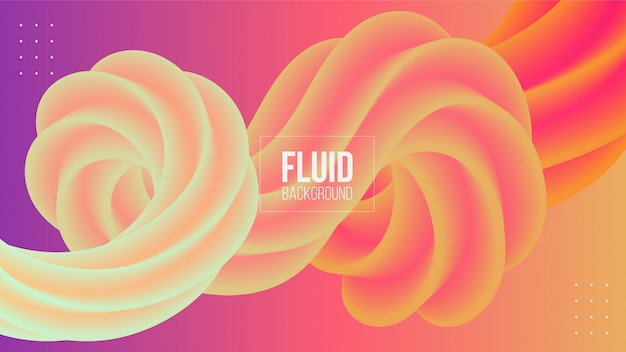 Abstract geometric 3d fluid shape background Premium Vector