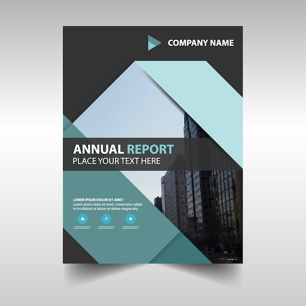 Abstract geometric annual report template Vector – Annual Report Templates Free Download