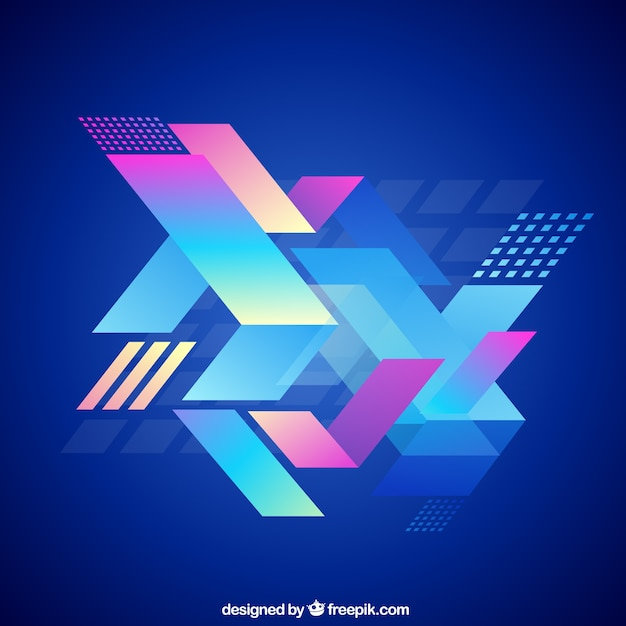 Abstract geometric background in colorful style Free Vector