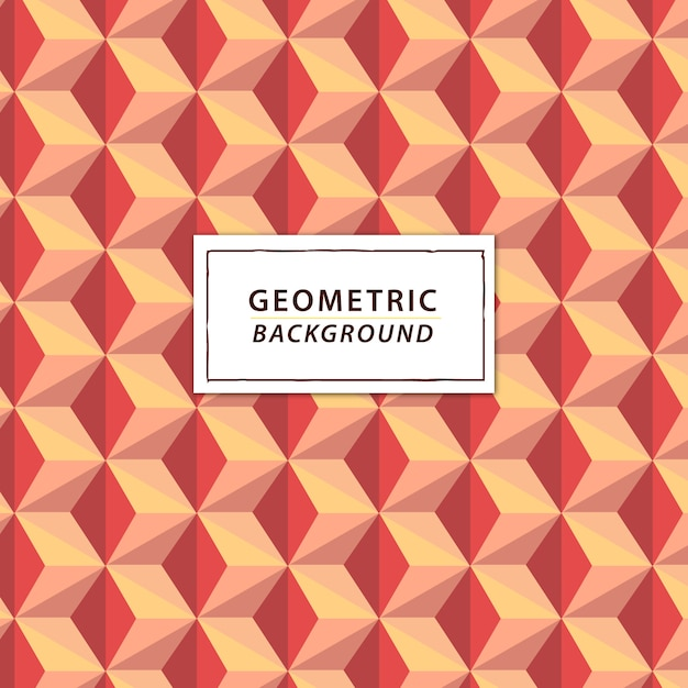 Abstract geometric background in coral tones Premium Vector