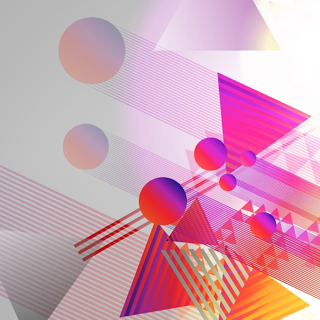 Abstract Geometric Background Design Vector Free Download