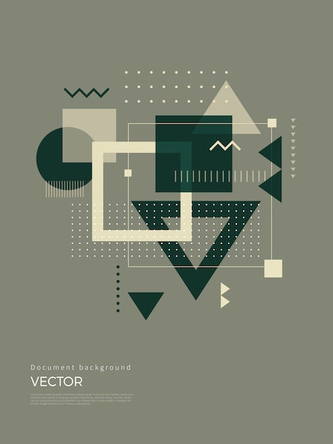 Abstract geometric background design Premium Vector