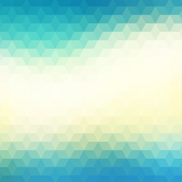 Abstract geometric background in blue and green\ tones