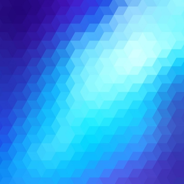 Abstract geometric background in blue\ tones