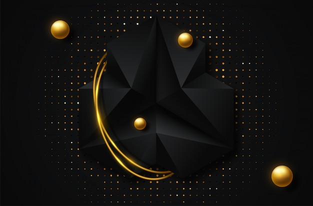 Abstract geometric background. vector 3d illustration Premium Vector