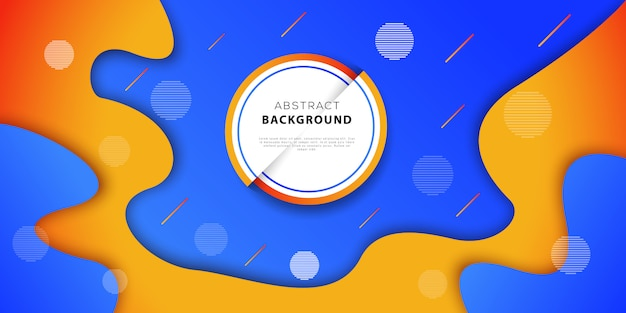 Abstract Geometric Background With Blue And Orange Colors