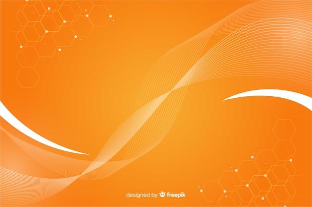 Абстрактный геометрический фон с сотовым рисунком Бесплатные векторы