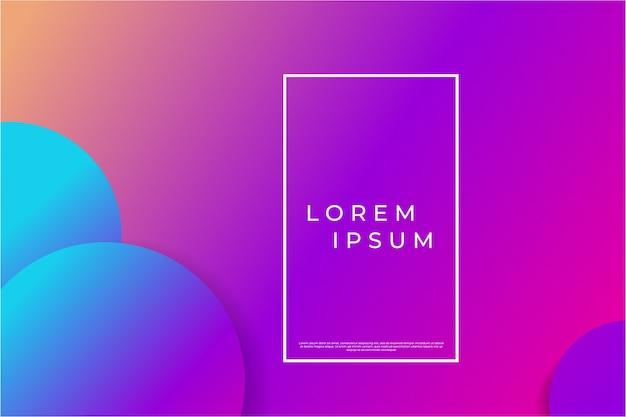 Абстрактный геометрический фон с фиолетовыми и синими градиентными кругами Premium векторы