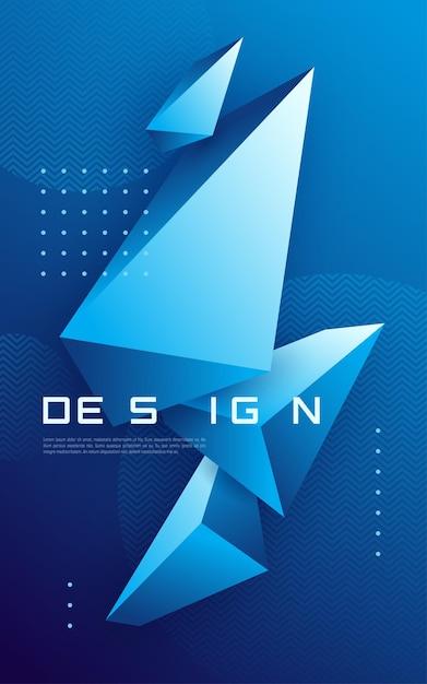 三角形の形、カラフルな最小限のカバーと抽象的な幾何学的な背景 Premiumベクター