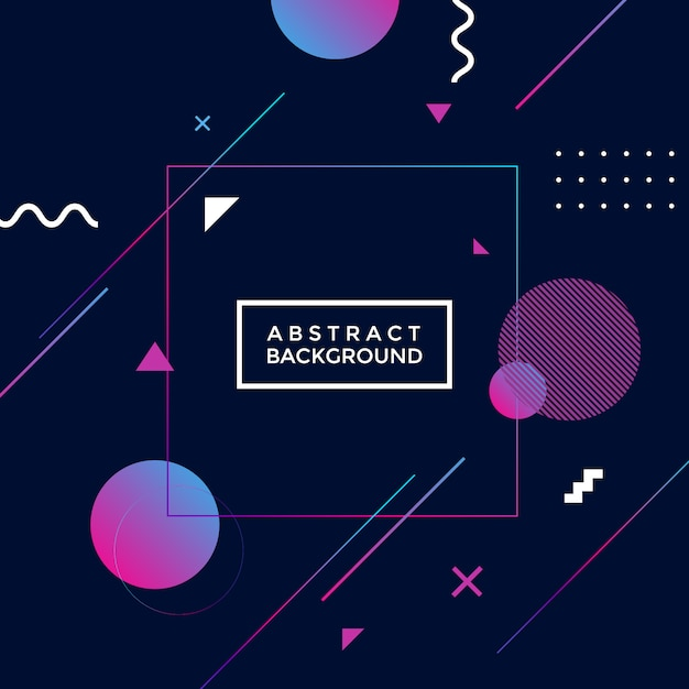Abstract geometric background. Premium Vector