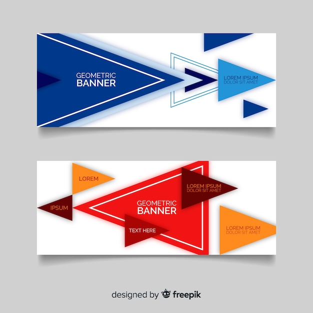 Abstract geometric banner template Free Vector