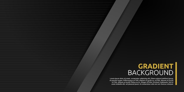 Abstract geometric black background Premium Vector