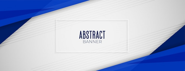 Free Vector | Abstract Geometric Blue Wide Background Banner Layout Design