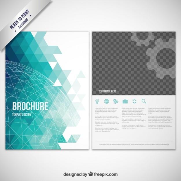 Abstract geometric brochure Vector – Geometric Flyer Template