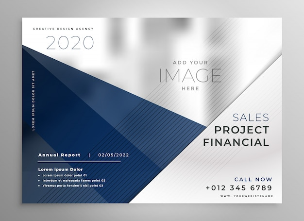 Abstract geometric business brochure design Free Vector