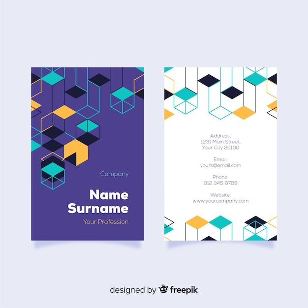 Абстрактный геометрический шаблон визитной карточки Бесплатные векторы