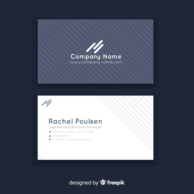 Abstract geometric business card template Premium Vector