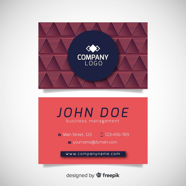 Abstract geometric business card template Free Vector