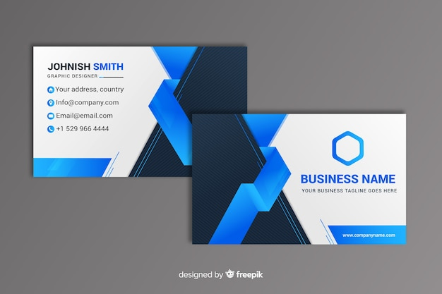 Abstract geometric business card Free Vector