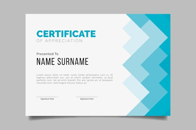 Abstract geometric certificate design for template Free Vector