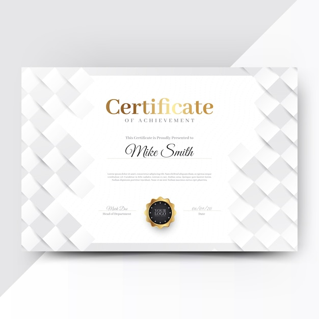 Abstract geometric certificate template Free Vector