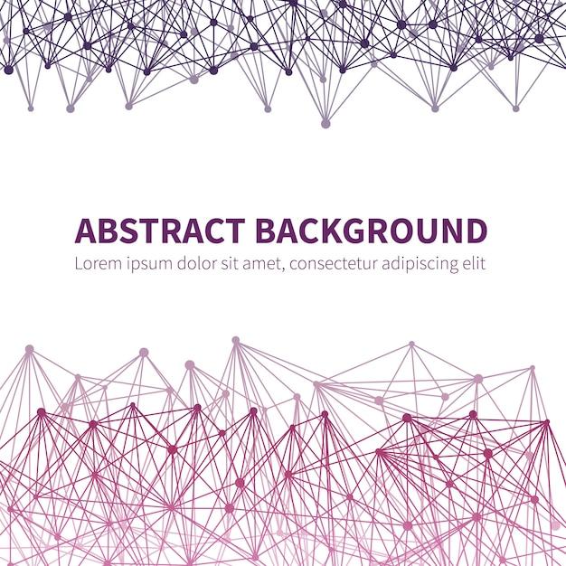 Абстрактный геометрический химический научный фон вектор с красочной молекулярной структурой Premium векторы