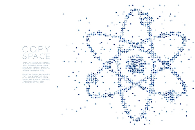 Abstract Geometric Circle Dot Pattern Atom Symbol Shape Vector